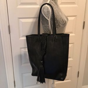 Big Buddha leather tassel shoulder bag